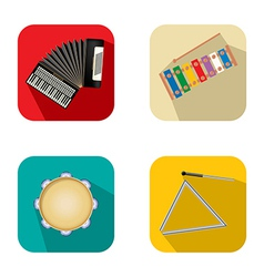 Music and party icons 3 vector image