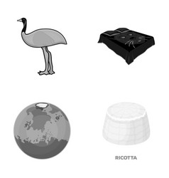 Travel nature ecology and other monochrome icon vector