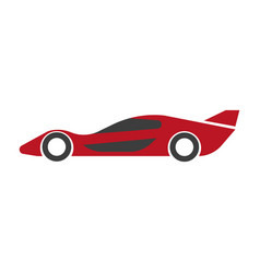 Speed modern red car with spoiler isolated vector