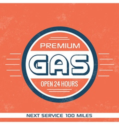 Vintage gasoline sign retro template vector