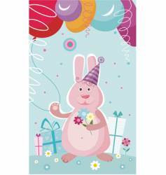 Birthday postcard vector