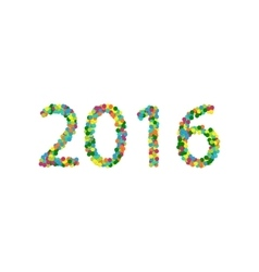 New year 2016 lettering colourful confetti vector