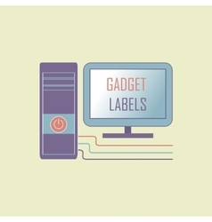 Electronic gadget label for design vector