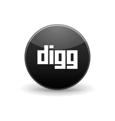 Digg icon simple style vector