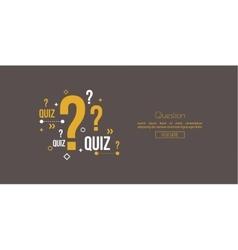 Quiz background vector image