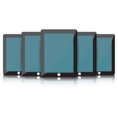Black tablet set vector
