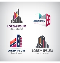 Set of colorful modern office company vector