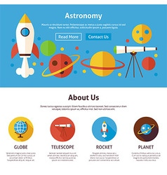 Astronomy science flat web design template vector
