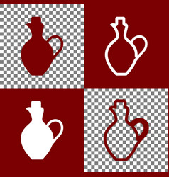 amphora sign bordo and white vector image vector image