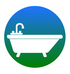 Bathtub sign white icon in vector