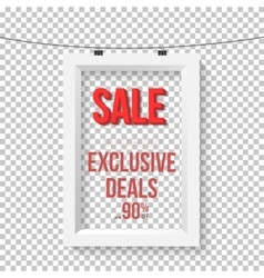 Big sale poster wall frame mockup vector