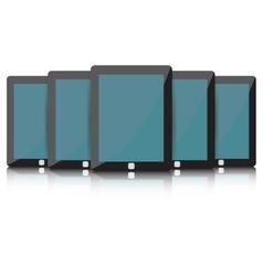 Black Tablet set vector image
