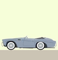 cabriolet classic car vector image vector image