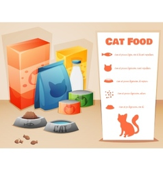 Cat food concept vector image