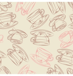 Coffee or tea time seamless background for your vector image vector image