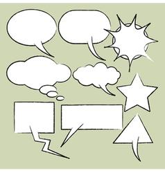 comics style speech vector image vector image