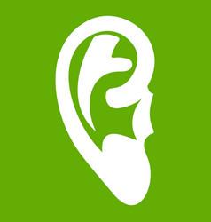 Ear icon green vector