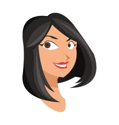 Face of woman icon vector