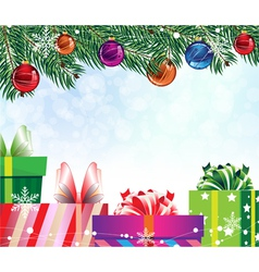 Four colorful gift boxes vector image vector image