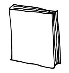 hand drawn book vector image vector image