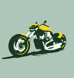 Harleycustom bike front view vector
