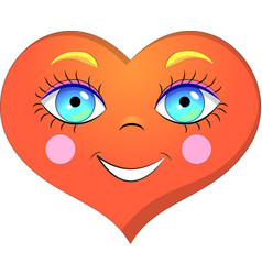 heart smile vector image vector image