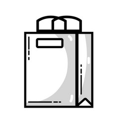Line shopping bag to marketing strategy company vector