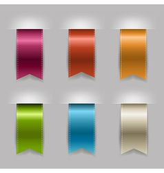 Realistic Ribbon Set vector image