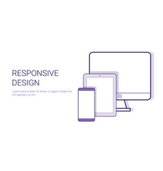 responsive design modern technology concept vector image