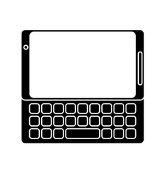 Smartphone mobile technology keyboard pictogram vector