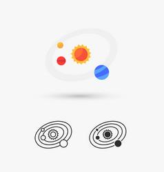 Solar system icon vector