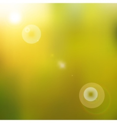 Sun shines brightly vector