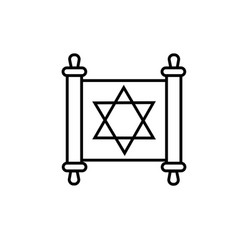torah icon vector image