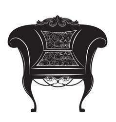 Vintage baroque imperial armchair vector