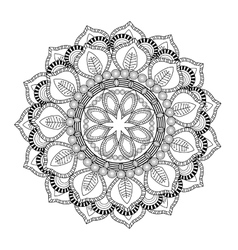 intricate mandala icon vector image