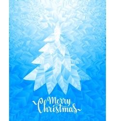 Christmas tree and merry christmas lettering on vector