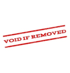 Void if removed watermark stamp vector