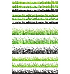 Seamless grass set vector