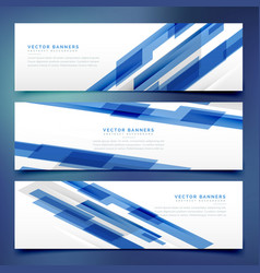 Abstract blue banners and headers template vector