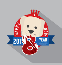 2018 year of dog vector image