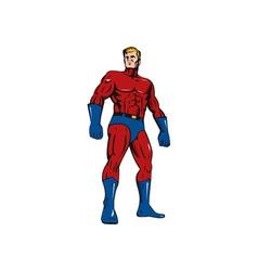 Super hero retro vector
