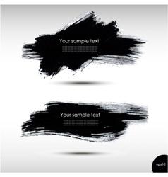 Splash banners set vector image