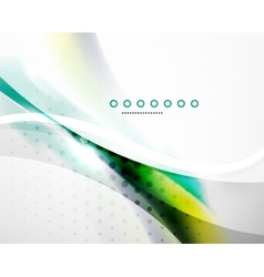 Business flowing wave vector image