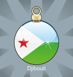 Djibouti flag on bulb vector