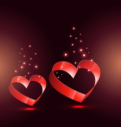Beautiful hearts with glow effect vector