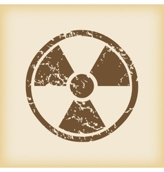 Grungy hazard icon vector