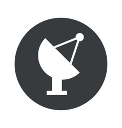 Monochrome round satellite dish icon vector