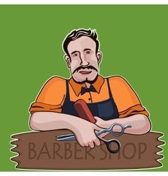 Hairstylist barber shop theme vector