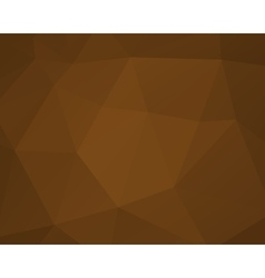 Abstract brown triangle background low poly vector image vector image