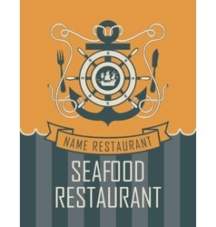 Anchor and seafood vector